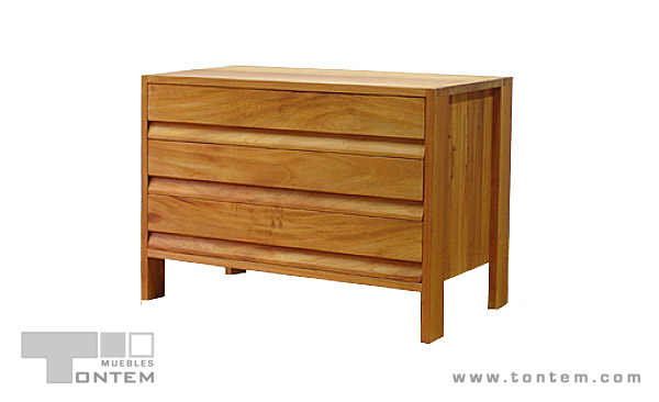 Dresser (Three-Drawer) - Spanish Cedar.