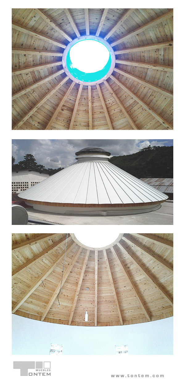 Tailor-made conical roof